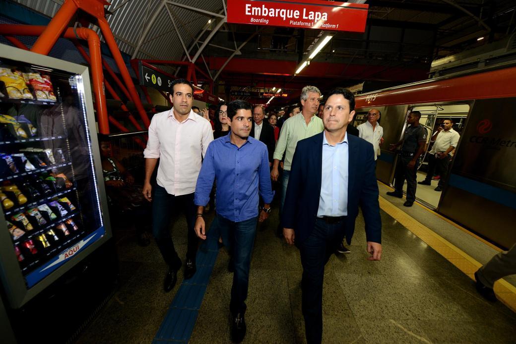 09_03_17_Pref ACM Neto_Min Bruno Araujo_visita Metro_foto Valter Pontes_SECOM14