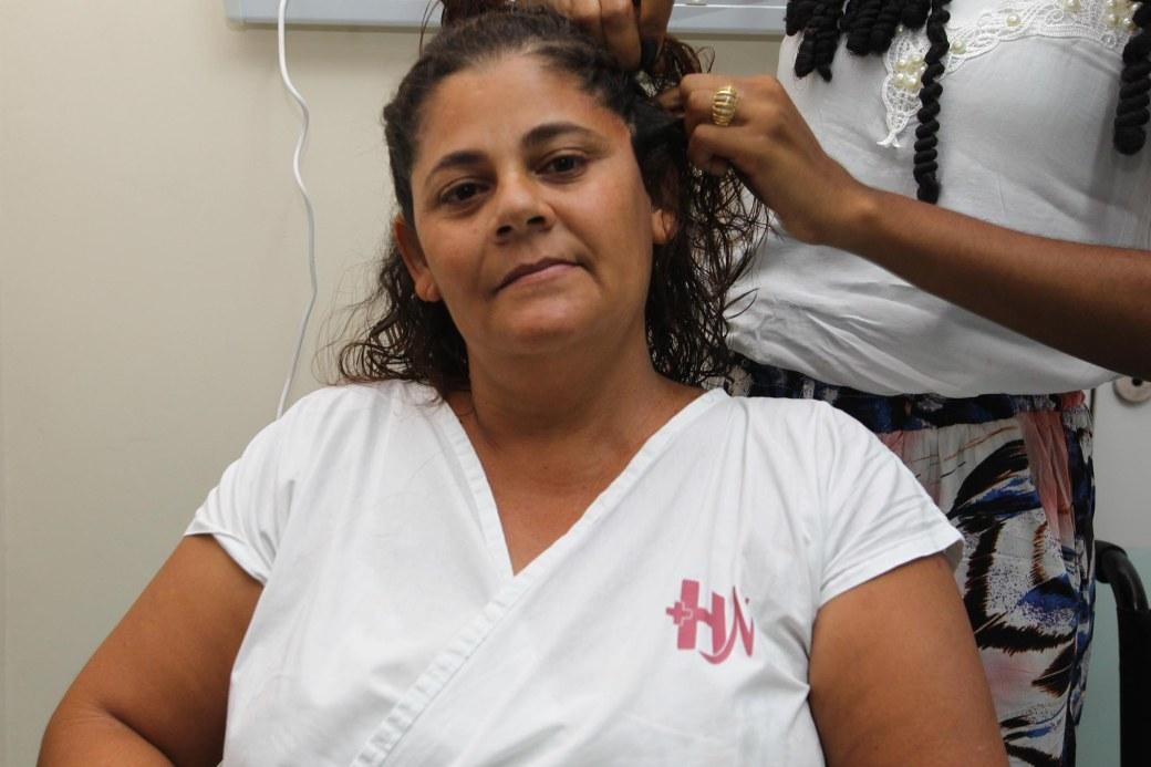 Maria de Lurdes, paciente do Hospital da Mulher
