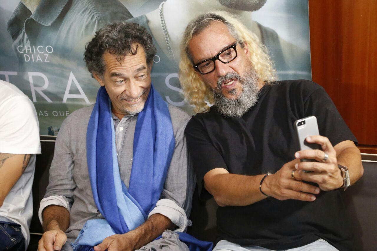 Os atores Chico Diaz e Caco Monteiro