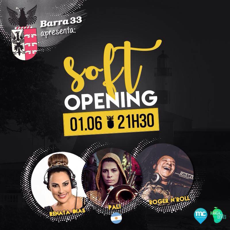 Flyer inauguração SOFT OPENING